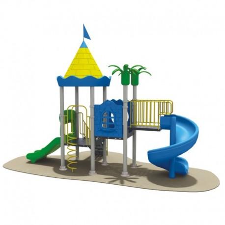 Estación de juegos Plaza Tobogán Simple y Espiral