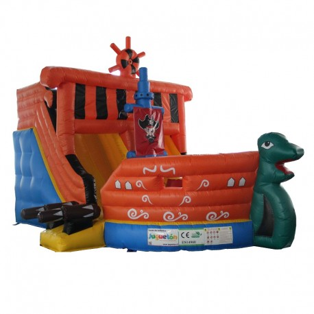 Juego Inflable Barco Pirata
