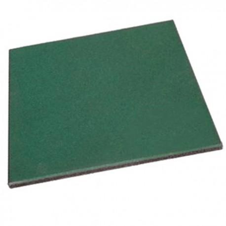 Piso Palmeta Pastelon Caucho Reciclado 2,5cm - Color Verde