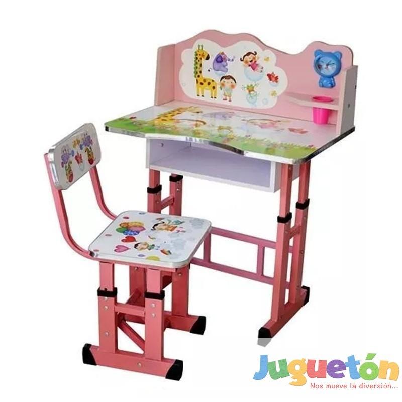 Escritorio mesa silla ni a ajustable en altura animales for Altura de un escritorio