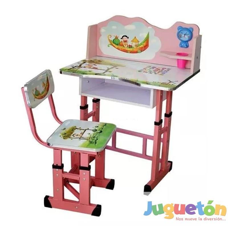 Escritorio mesa silla ni a ajustable en altura sue os for Altura de un escritorio