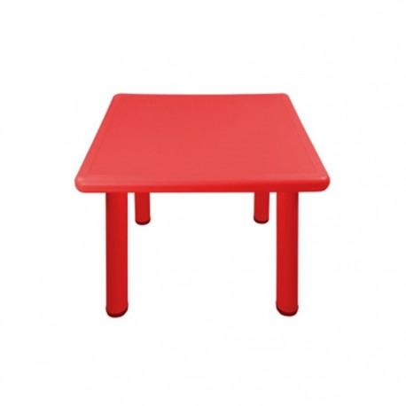 Mesa cuadrada roja