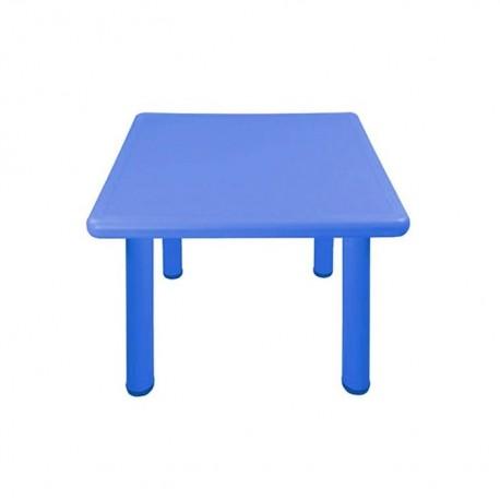 Mesa cuadrada azul