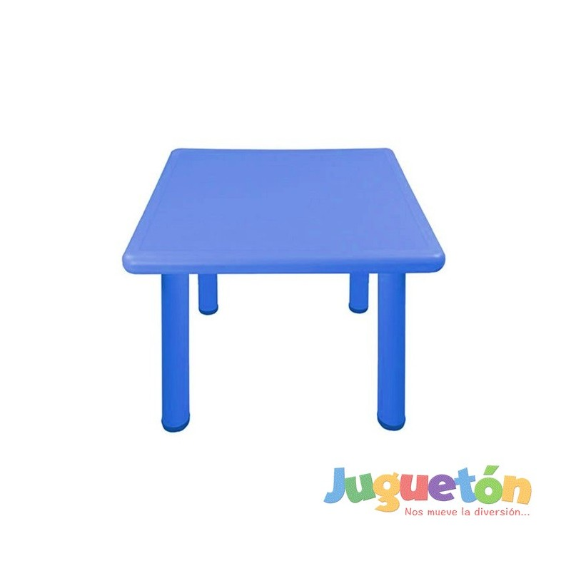 Mesa cuadrada azul ni o jard n for Mesa cuadrada
