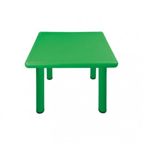 Mesa cuadrada verde