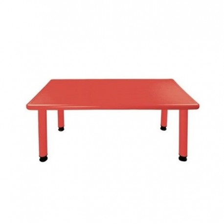 Mesa rectangular roja