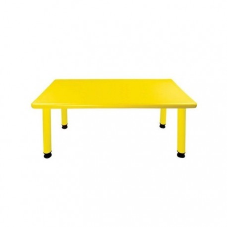Mesa rectangular amarillo