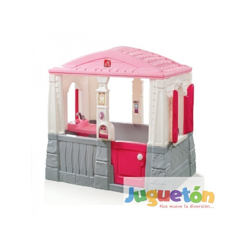 Casa de juegos mu ecas playhouse ni as rosada piso step2 for Casitas de jardin de plastico