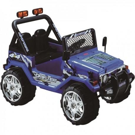 auto jeep azul a batería doble asiento control remoto