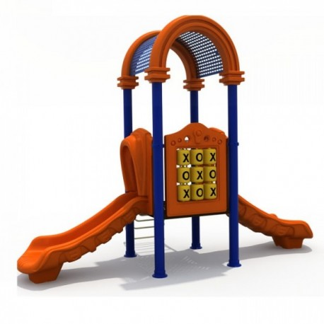 Estación de juegos Plaza Arco Doble Tobogán