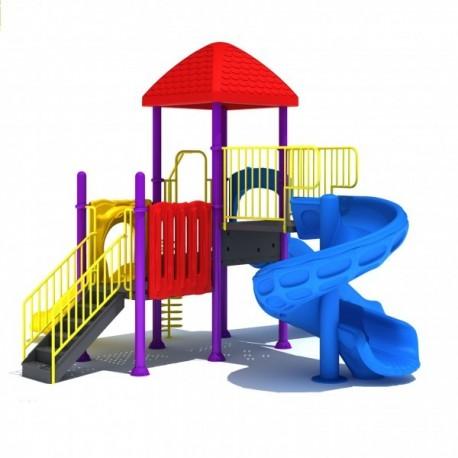 Estación de juegos Plaza 3 Toboganes Espiral modular 25