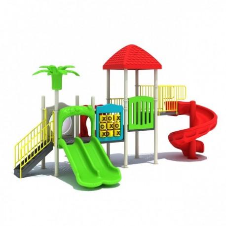Estación de juegos Plaza multiple Espiral modular 26