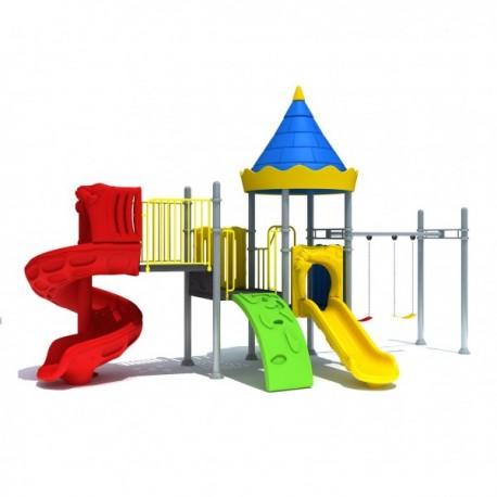 Estación de juegos Plaza multiple Espiral Columpios modular 41