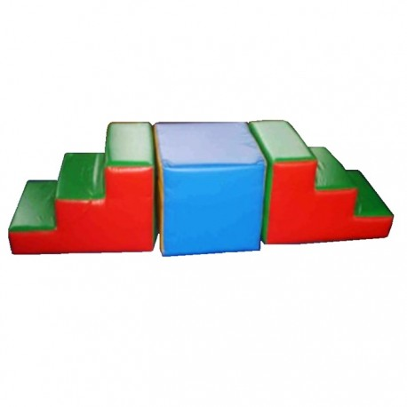 Set 2 Escaleras + 1 Cubo espuma