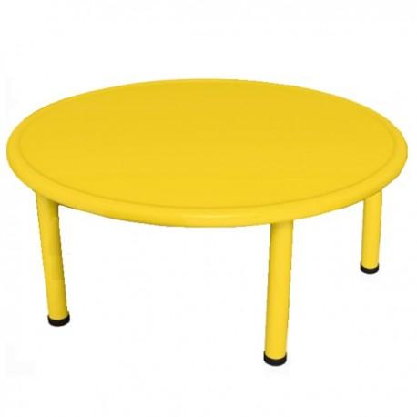 Mesa redonda amarilla