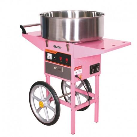 Maquina de algodón azúcar con carro