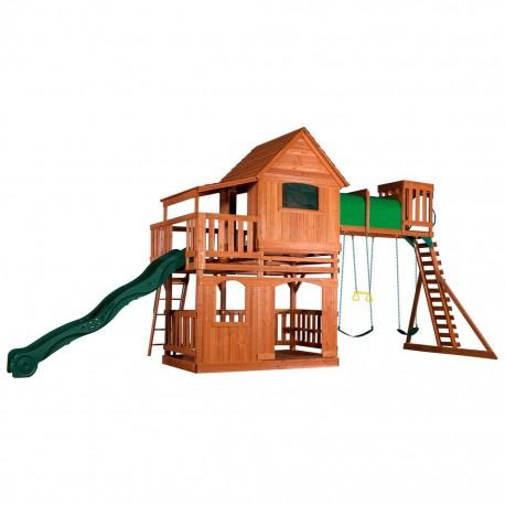 Estación de Juegos Madera Set Columpios Woodridge II