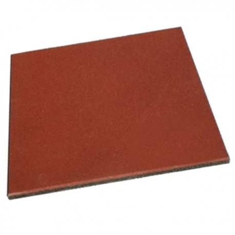Piso Palmeta Pastelon Caucho Reciclado 25mm - Color Rojo