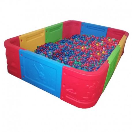 Piscina para pelotas modular 5 m2 rectangular