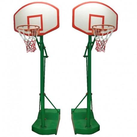 Par Torres Basketball basquelbol Portatil Acero