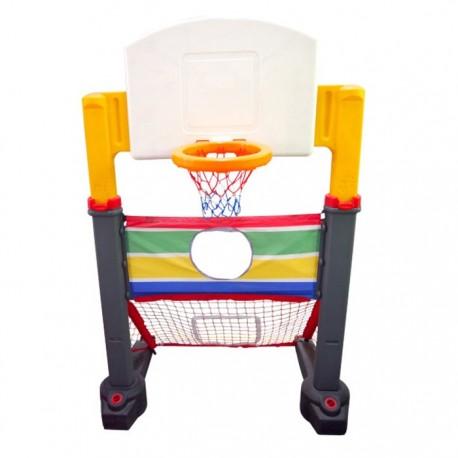 Set 2 en 1 Arco fútbol y Aro Basketball