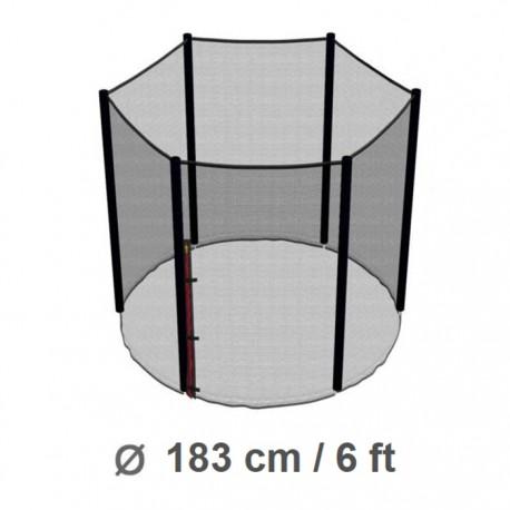 Repuesto Malla Seguridad 183cm/6ft Cama Elástica Costura a 6 Pilares