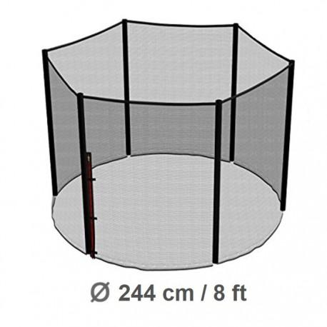 Repuesto Malla Seguridad 244cm/8ft Cama Elástica Costura a 6 Pilares