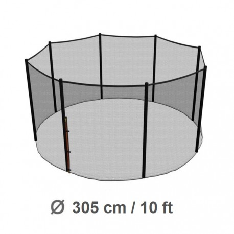 Repuesto Malla Seguridad 305cm/10ft Cama Elástica Costura a 8 Pilares