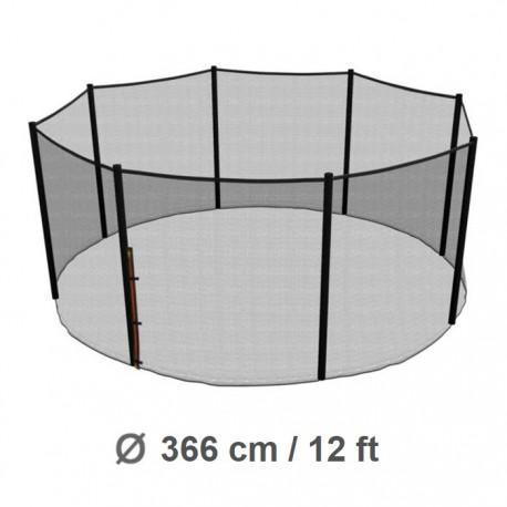 Repuesto Malla Seguridad 366cm/12ft Cama Elástica Costura a 8 Pilares