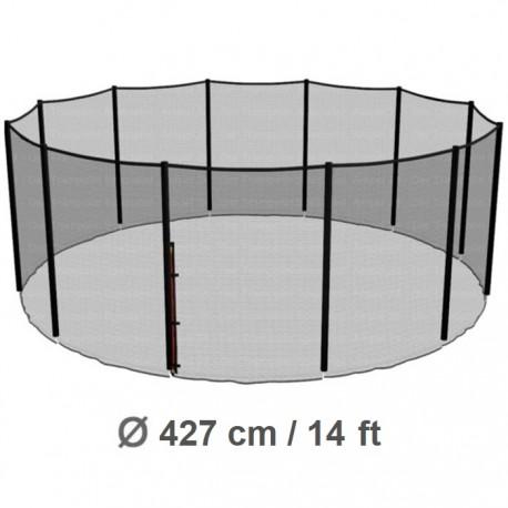 Repuesto Malla Seguridad 427cm/14ft Cama Elástica Costura a 12 Pilares