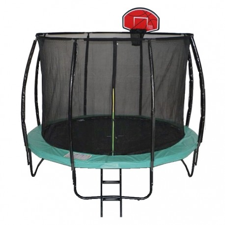 cama elastica 366 cm trampolin 12 ft curva tablero aro basketball basquetbol