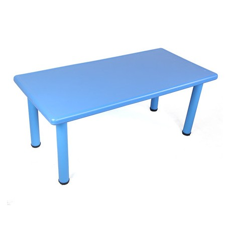Mesa rectangular azul