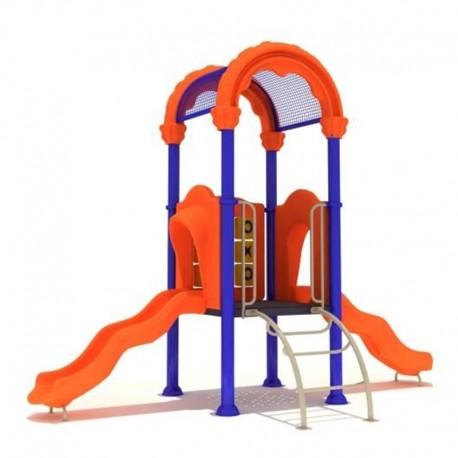Estación de juegos Plaza Arco Doble Tobogán HBFY01 PLAZA 01