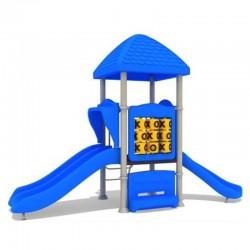 Estación de juegos Plaza Triple Tobogán Azul