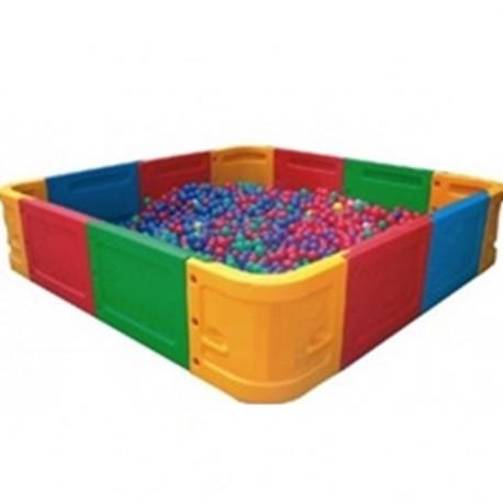 Piscina para pelotas modular 225x225cm con 4.000 Pelotas