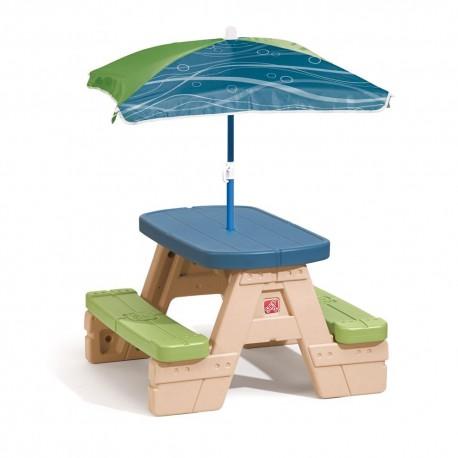 Mesa Picnic paraguas resistente calidad step2