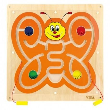 Juego de pared de madera diseño mariposa  coordinación ojo-mano