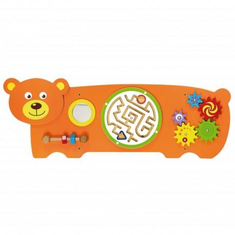 Juego de pared de madera diseño oso coordinación ojo-mano