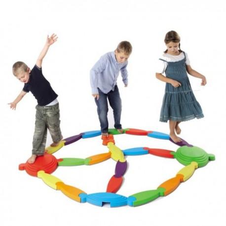 Pista Motricidad y Equilibrio flexible 16 piezas