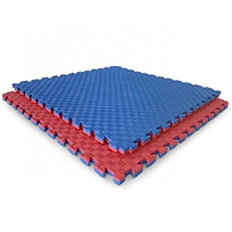 Tatami piso goma eva 2,5 cm espesor grosor 100x100 metro cuadrado m2 rojo azul colores