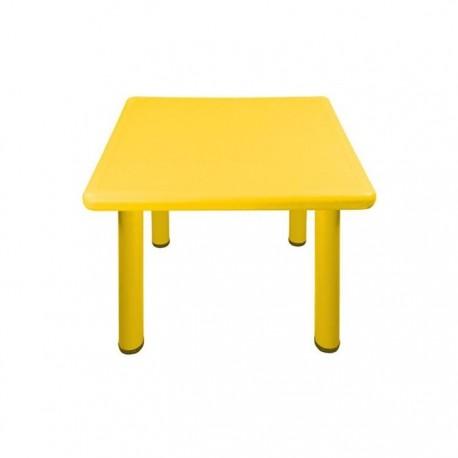 Mesa cuadrada amarilla ni o jard n - Mesas para ninos de plastico ...