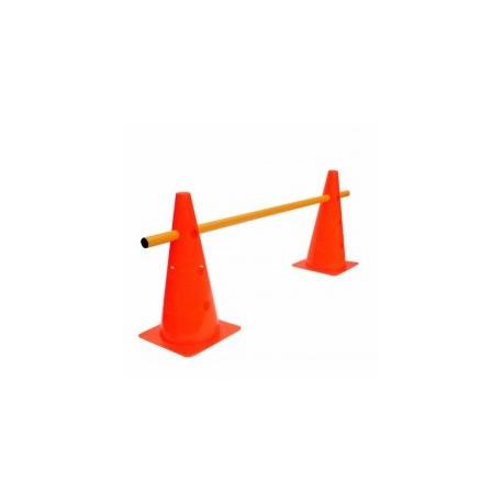 Conos Plásticos DRB Con Baston 100cm Naranja Fluo Dribbling Entrenamiento