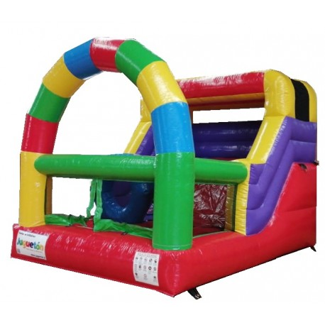 Juego Inflable Tobogán Arco Multicolor Mini