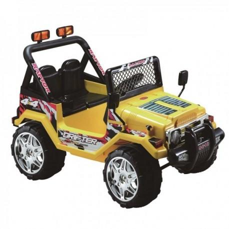 auto jeep amarillo a batería doble asiento control remoto